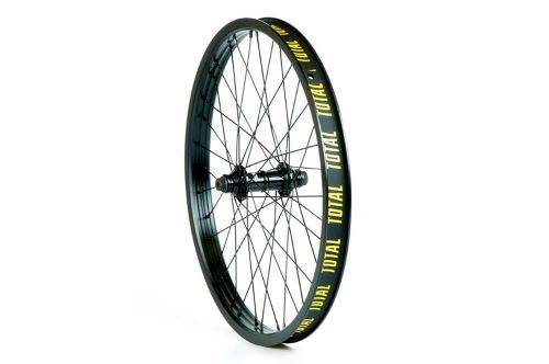 "Total BMX Techfire Front Wheel - Black Hub With Black Rim 10mm (3/8"")"